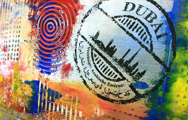 Bildausschnitt 2 - Dubai mit Burj al Arab - Stadtbild, Stadtmalerei, Stadt Gemälde