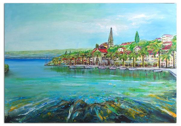 PARIS Skyline - Städtebild Stadt Gemälde Bilder Malerei abstrakt - Stadtbild mit Umdruck