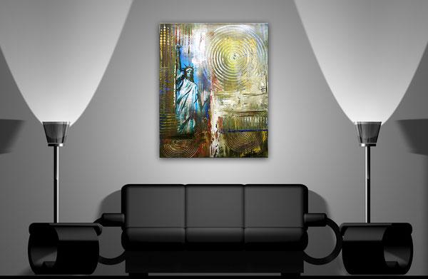 Wohnbeispiel - Freiheitsstatue Statue of Liberty - Umdruck Gemälde und abstrakte Kunst Malerei