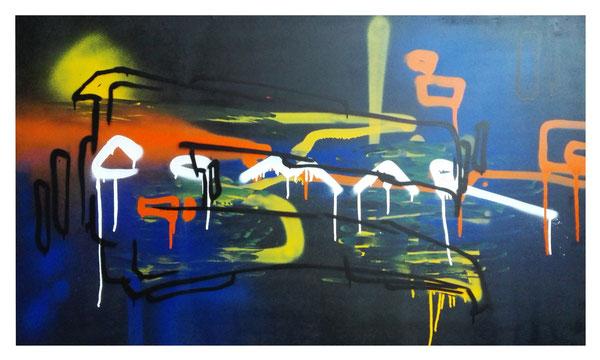 Jahr: 2015 Titel: C the Comar Größe: 78x140cm auf Holzplatte ZUM VERKAUF Preis auf Anfrage