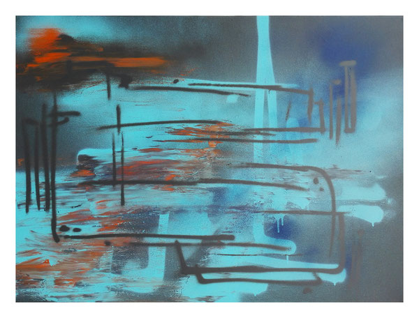 Leinwand auf Keilrahmen Jahr: 2015 Titel: C in the shadow Größe: 70x100cm ZUM VERKAUF Preis auf Anfrage
