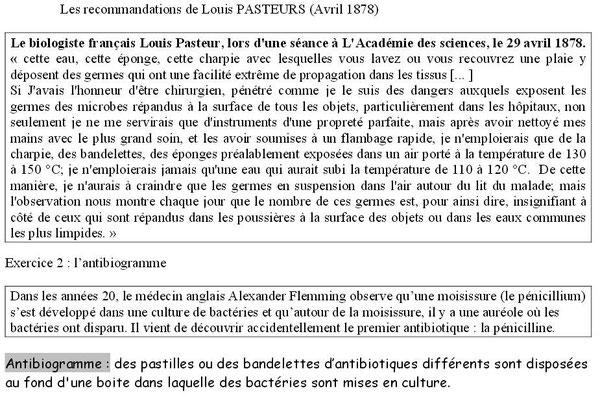 Les recommandations de pasteurs concernant l'hygiène. Sources: http://perennes.svt.free.fr/documents/3/partieB/3_P2_C1.pdf