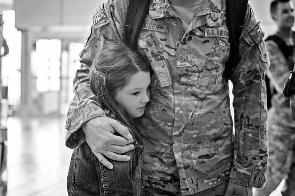 A soldiers return home