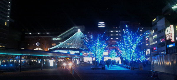 年末の大分駅前の夜景です。Merry Christmas and a Happy New Year !!  (^^)/