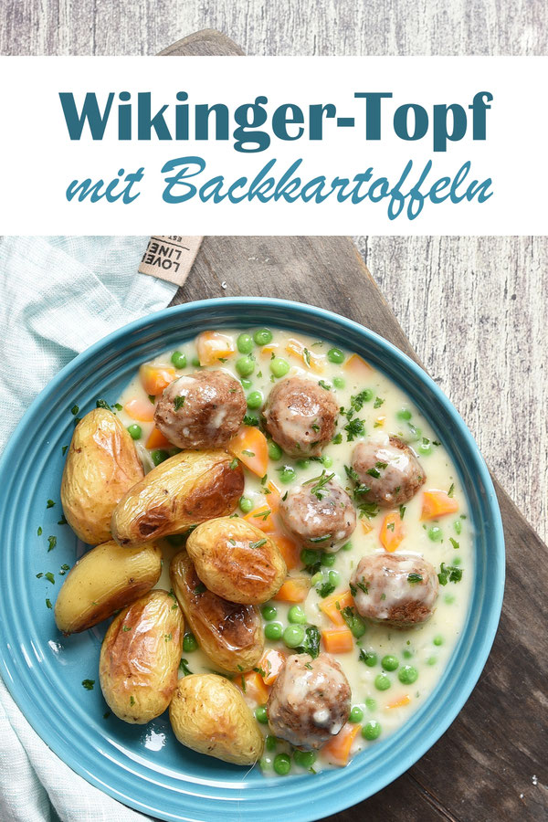Wikinger Topf mit Backkartoffeln, Klassiker, vegetarisch oder vegan möglich