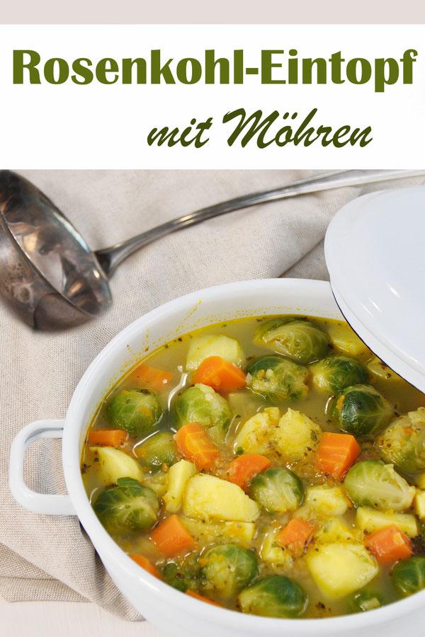 Rosenkohleintopf mit Möhren und Kartoffeln, Klassiker, vegetarisch, vegan, Thermomix