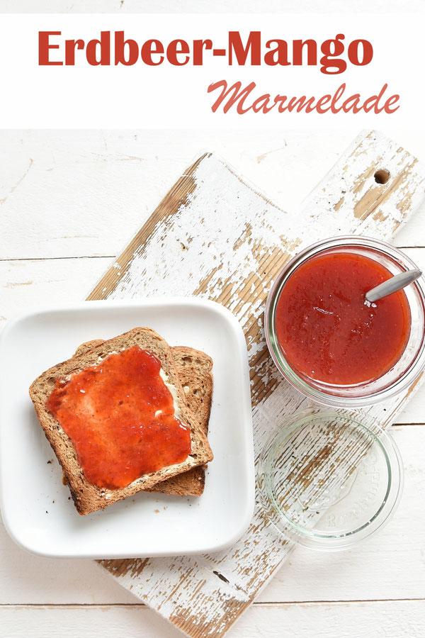 Erdbeer Mango Marmelade, schnell und einfach, Thermomix