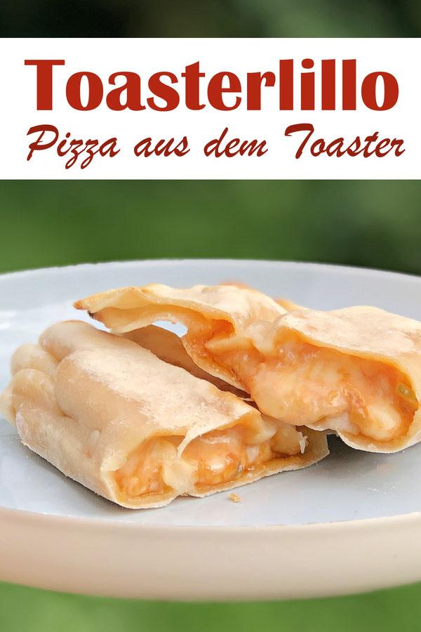 Toasterillos Pizza aus dem Toaster, ruck zuck gemacht, Teig muss nicht gehen, einfach ausrollen, füllen und in Toasterbeuteln in den Toaster stecken, 5 Min. später fertig