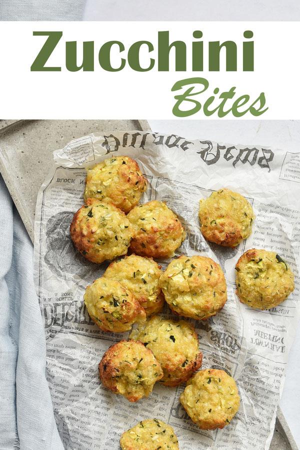 Zucchini Bites, Zucchini-Käse-Taler mit Schnittlauch, aus dem Ofen, als Snack für unterwegs, als Beilage zu Kartoffeln und Bratwürstchen, zu einem grünen Salat als leichtes Gericht etc. Thermomix, vegetarisch