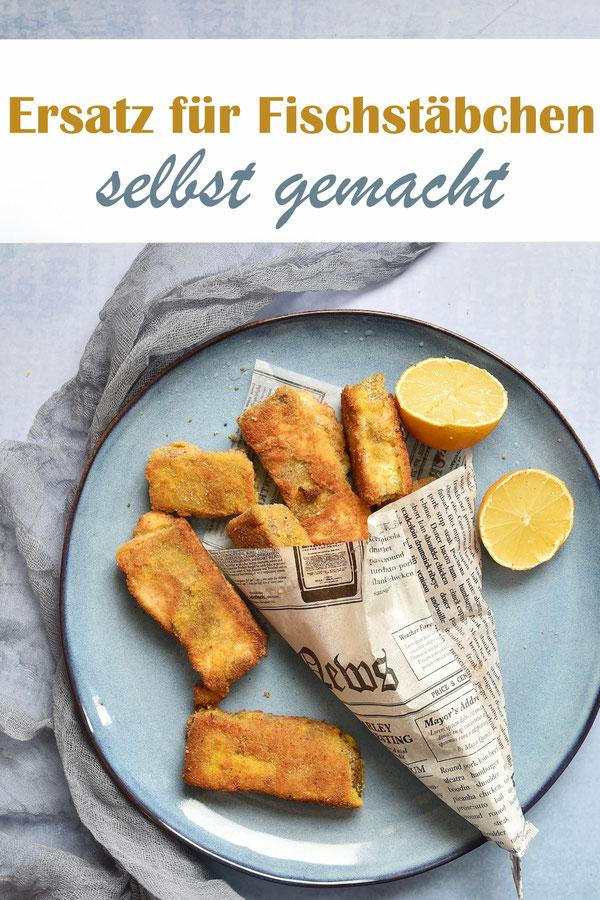 Ersatz für Fischstäbchen selbst gemacht aus Linsen und Naturjoghurt oder Pflanzenjoghurt, gewürzt mit Nori-Algen für den Fischgeschmack, Thermomix, vegan, vegetarisch