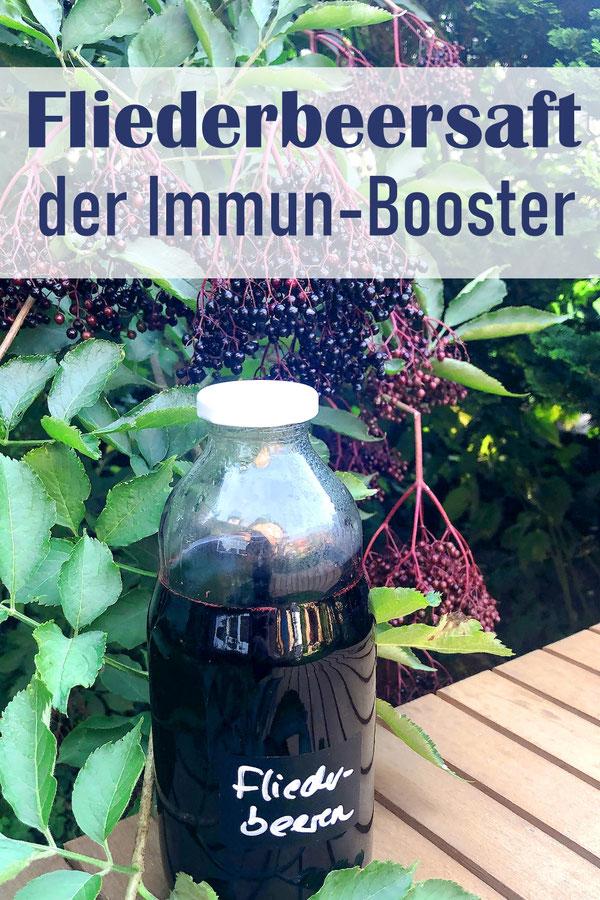Fliederbeersaft der Immun Booster bei Erkältungen oder Grippe, Fliederbeeren entsaften im Thermomix, dann mit Zucker haltbar machen, Rezept