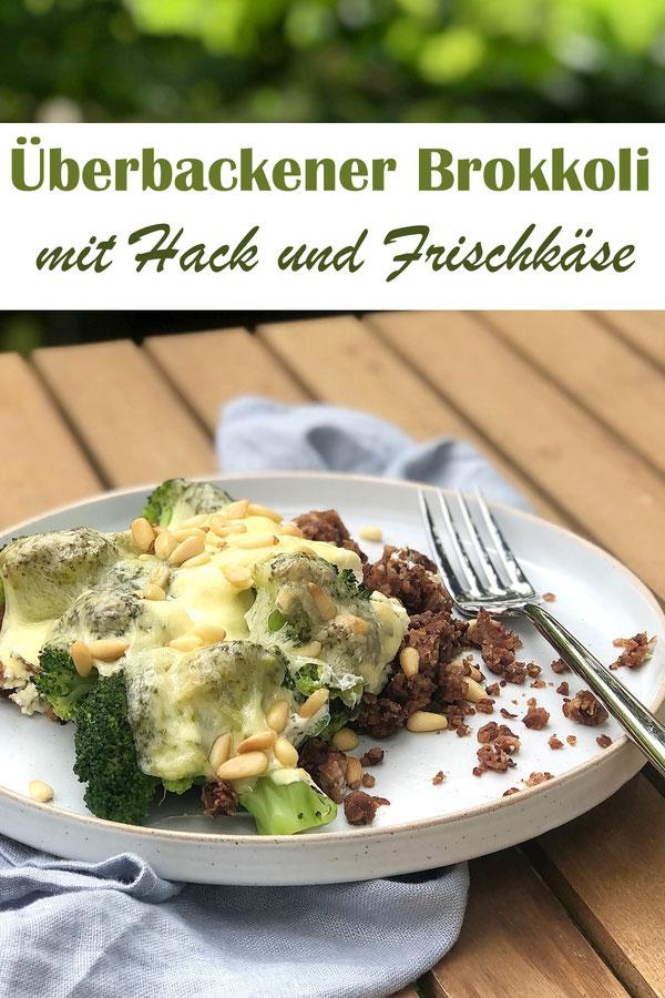 Überbackener Brokkoli mit Hack und Frischkäse, vegetarisch, vegan möglich, Veggie-Hack und Frischkäse-Soße aus dem Thermomix