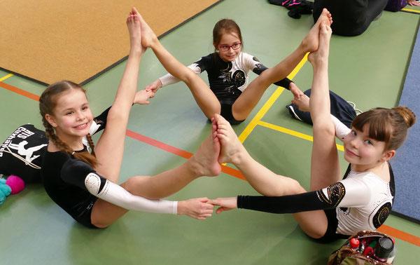 Jahrgang 2010: 2. Platz Madleen Katt, 3. Alina Ensuleit, 4. Charlotte Bittner, 9. Estelle Kutzner (fehlt auf dem Foto)