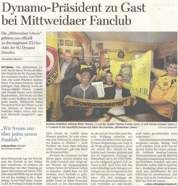 Quelle: Freie Presse (Mittweidaer Zeitung) vom 1.April 2011