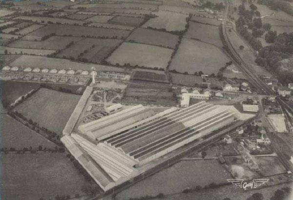 vue aérienne de l'usine Braud à Ancenis (Loire Atlantique)