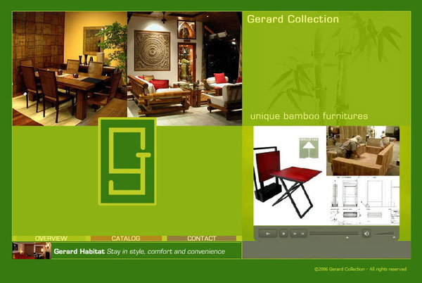 Gerard Collection WEBサイト