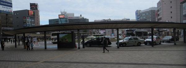 完成した大分駅前ロータリー(2017年)
