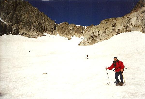Georges sur le glacier de Las Néous.