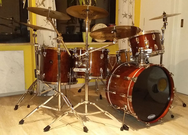 "Tama Superstar 1983 in Super Mahogany 22""13""15""18"""