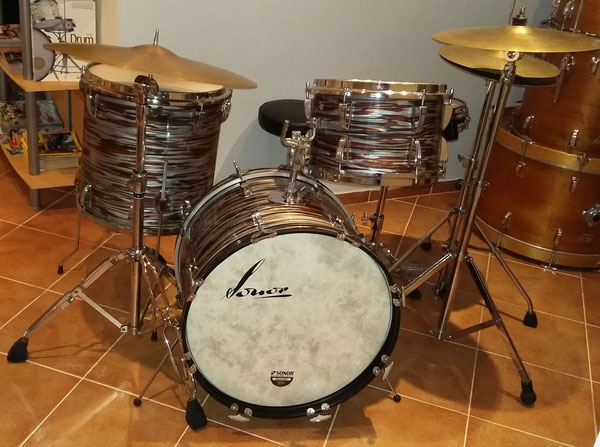 "Sonor Swinger 1970 20"" 13"" 16"" in Copper Oyster foliert"