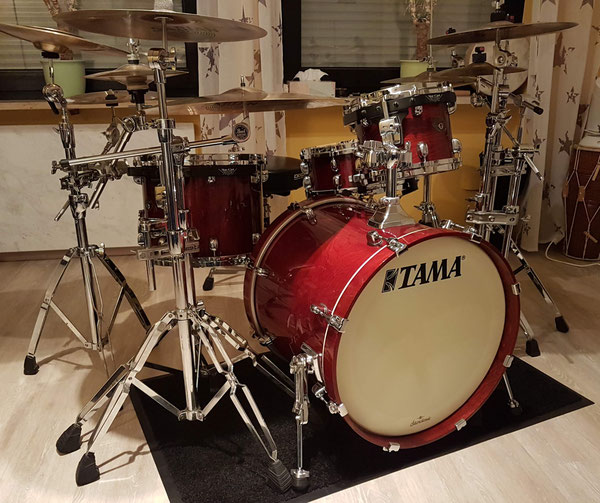 "TAMA Starclassic Birch in Royal Walnut 20"" 10"" 12"" 14"" & 14 x 5,5"" Snare"