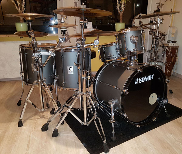 "Sonor Force 2000 Hi-Tech grey 20"" 12"" 14"" 16"" & Snare 14 x 6,5"""