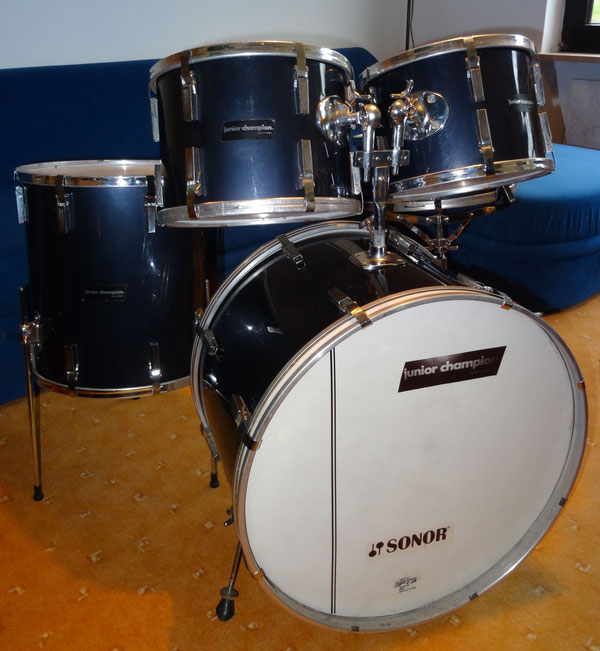 "Sonor RK 132 Junior Champion 1984   22"" 12"" 13"" 16"" & 14"" Snare mit Remo PTS-System"