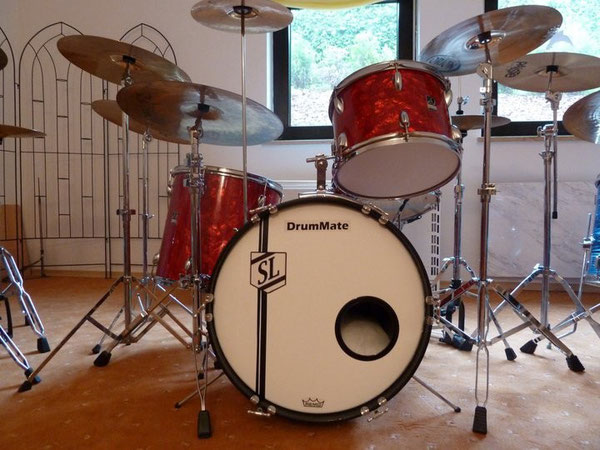 "DrumMate 70er Jahre 20"" 13"" 16"" & Snare in Diamond Red"
