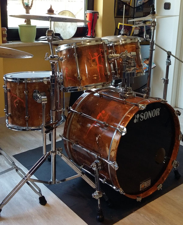 "Sonor Force 3000 Handpainted in 22"" 10"" 12"" 14"""