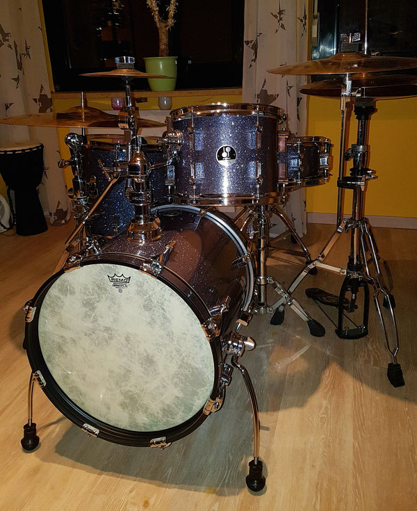 "Sonor Safari in Black Galaxy Sparkle 16"" 12"" 14"" & 14"" Player Snare"
