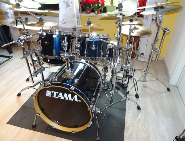 "Tama Superstar 20""10""12""14"" & 14"" Snare in Midnight Blue"