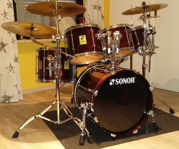 "Sonor Force 3000 in Walnut 20""8""10""12""14"""