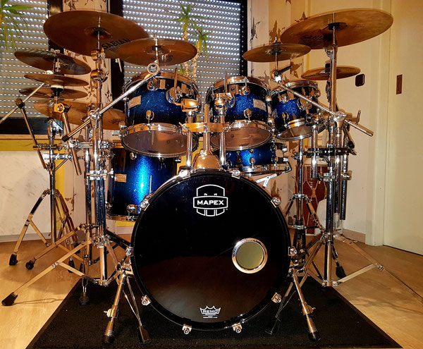 "Mapex Saturn Blue Galaxy Sparkle Burst 20"" 8""   10"" 12"" 14"""