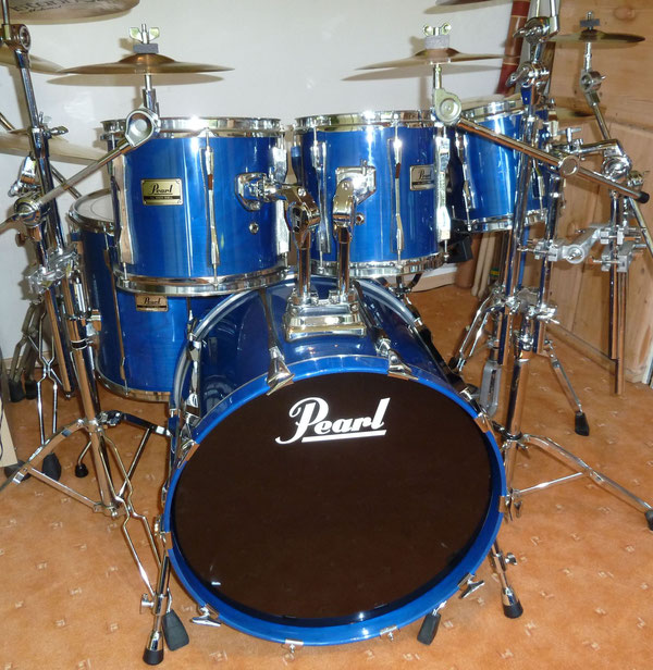 "Pearl BLX 90er Jahre 22""10""12""16"" in Sheer Blue"