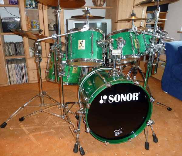 "Sonor Force 3000 90er Jahre  20"" 8"" 10"" 12"" 14"" in Stain Mint"
