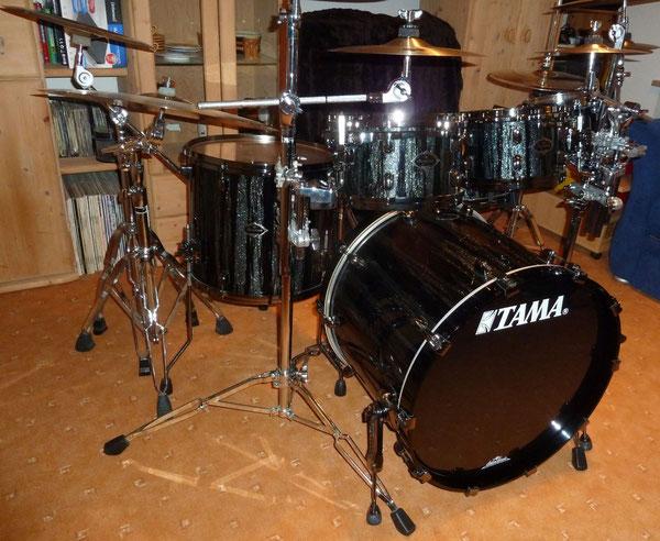"Tama Starclassic Performer B/B Hyperdrive in Blue Nebula Blaze 22"" 8"" 10"" 12"" 16"" & 14"" Snare"