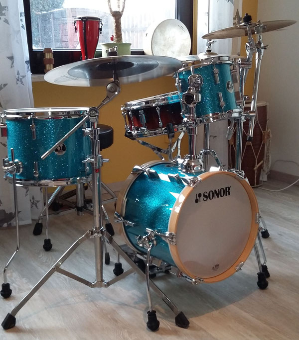 "Sonor Martini 14"" 8"" 13"" in Turquise Sparkle"