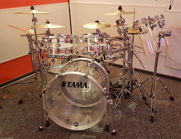 "Tama Silverstar Acryl in 22""10""12""14""16"" & 14"" Snare"