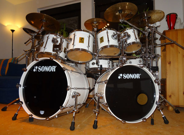 "Sonor Force 3000 in Snow White 22""20""8""10""12""14""16"""