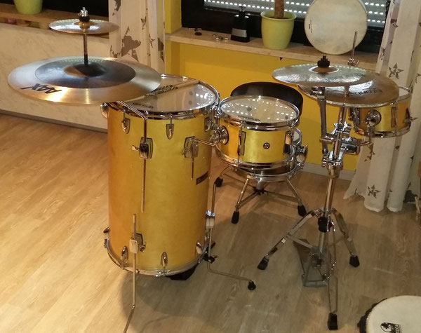"Dimavery Cocktail Drum Set 15""10"" & 8"" Snare Natural Maple"