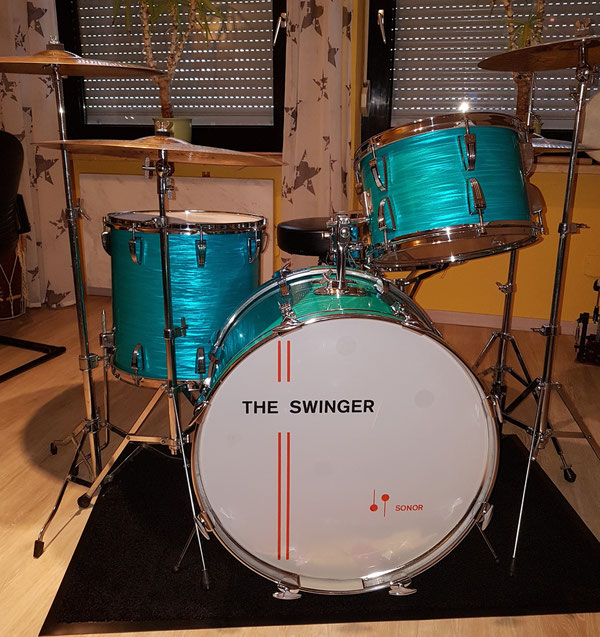 "Sonor The Swinger 70er in Türkis 13"" 16"" 22"""
