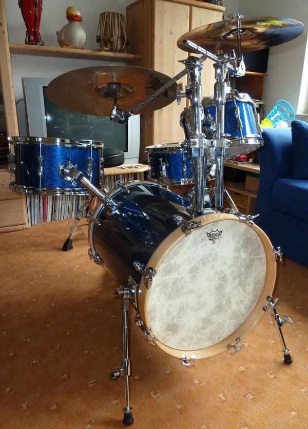 "Bop-Kit 16""10""13"" & 12"" Snare in Blue Sparkle"