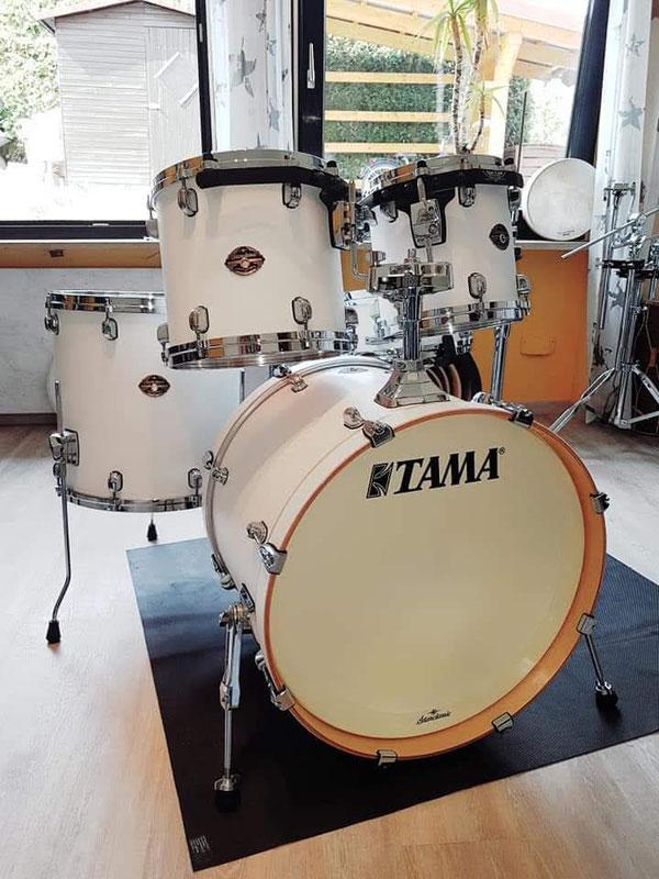 "Tama Starclassic Performer Birch Flat White 22"" 16"" 14"" 12"" 10"" & 14 * 5,5 Snare"