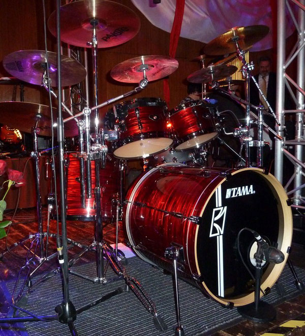 "Tama Superstar Hyperdrive  22"" 10"" 12"" 16"" & 13"" Snare in Red Silk"