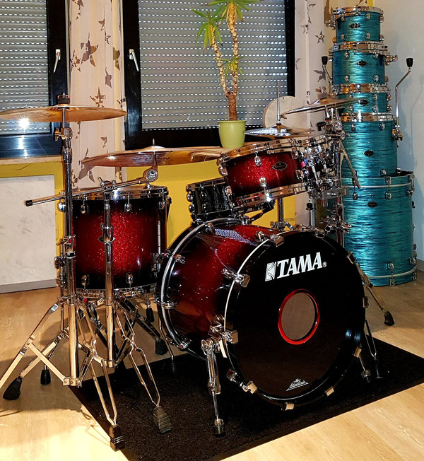 "Tama Starclassic B/B in Red Sparkle Burst 20""10""12""16"""