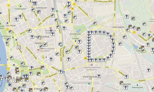 Geocaching Karte Düsseldorf
