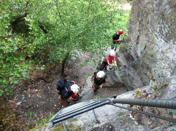 Klettersteig mit Leiter