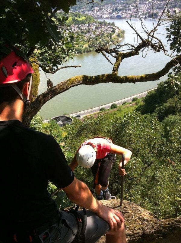 Am Klettersteig Boppard