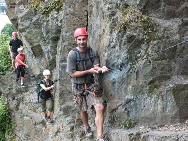 In der Felswand. Foto: Ralf Zilles, Abenteuer und Aktivurlaub