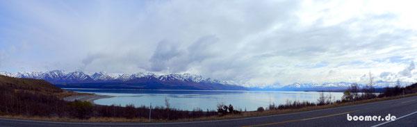 Lake Pukaki - leider ohne den Mount Cook